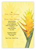 Yellow Ginger Invitation